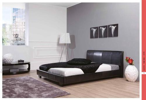 Cama casal estofada preta ou branca produtos camas for Camas baratas online