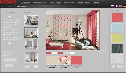 Simulador de ambientes 3d rasch produtos atelier do for Simulador cocinas 3d online