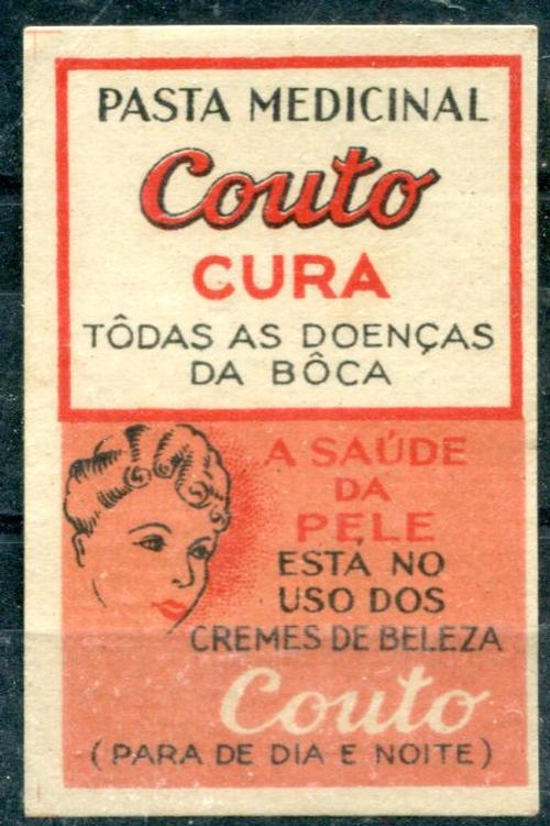 PASTA MEDICINAL COUTO - Produtos > VINHETAS OU CINDERELAS ...