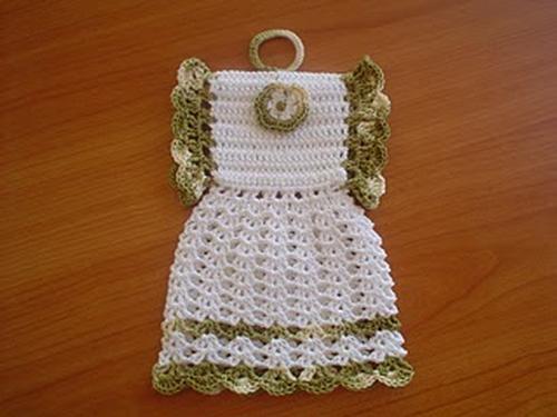 b237c9ab5 Pega para panela em croche vestidinho. clique na foto para ampliar.  Previous; Next
